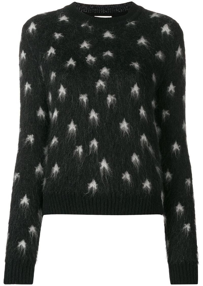 Saint Laurent star intarsia jumper