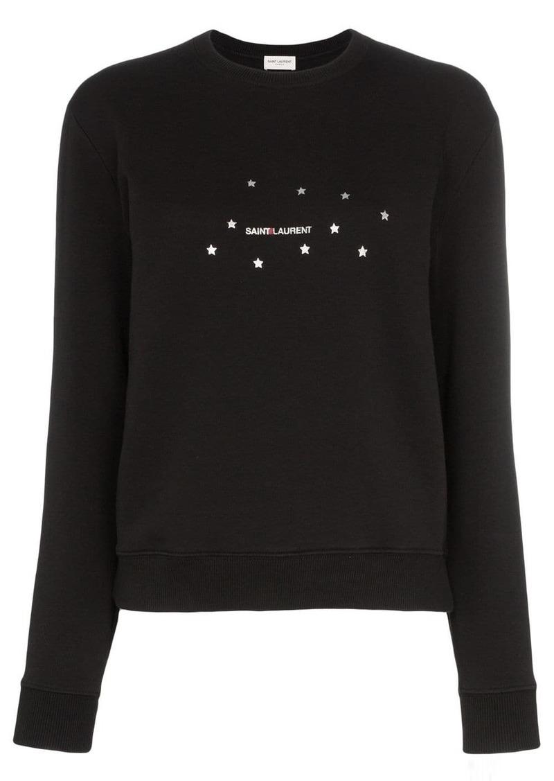 Saint Laurent star logo print sweatshirt