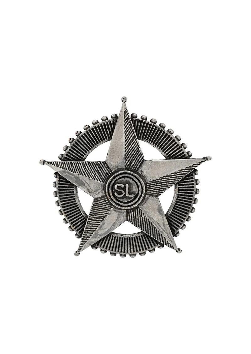 Saint Laurent star metal pin