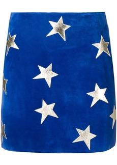 Saint Laurent star patches mini skirt