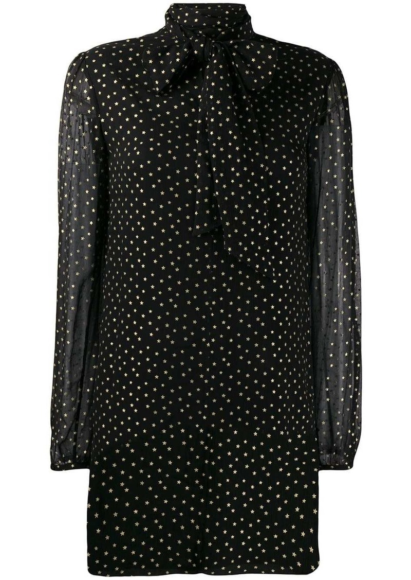 Saint Laurent star print mini dress