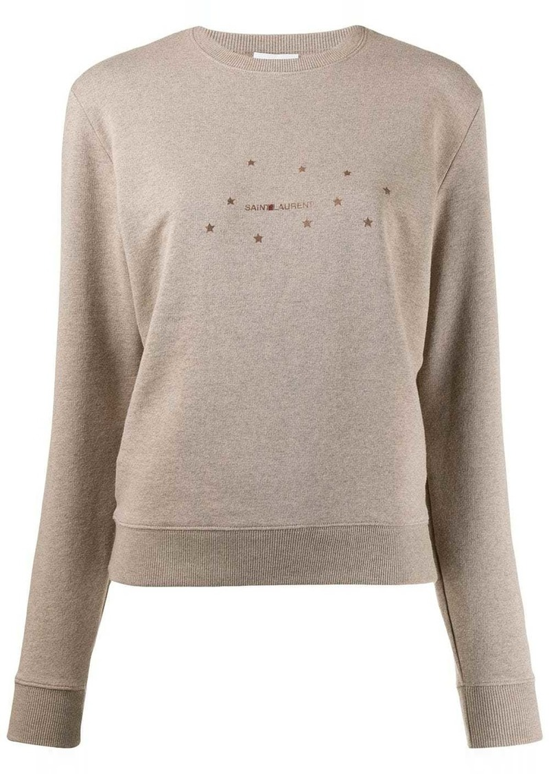 Saint Laurent stars print sweatshirt