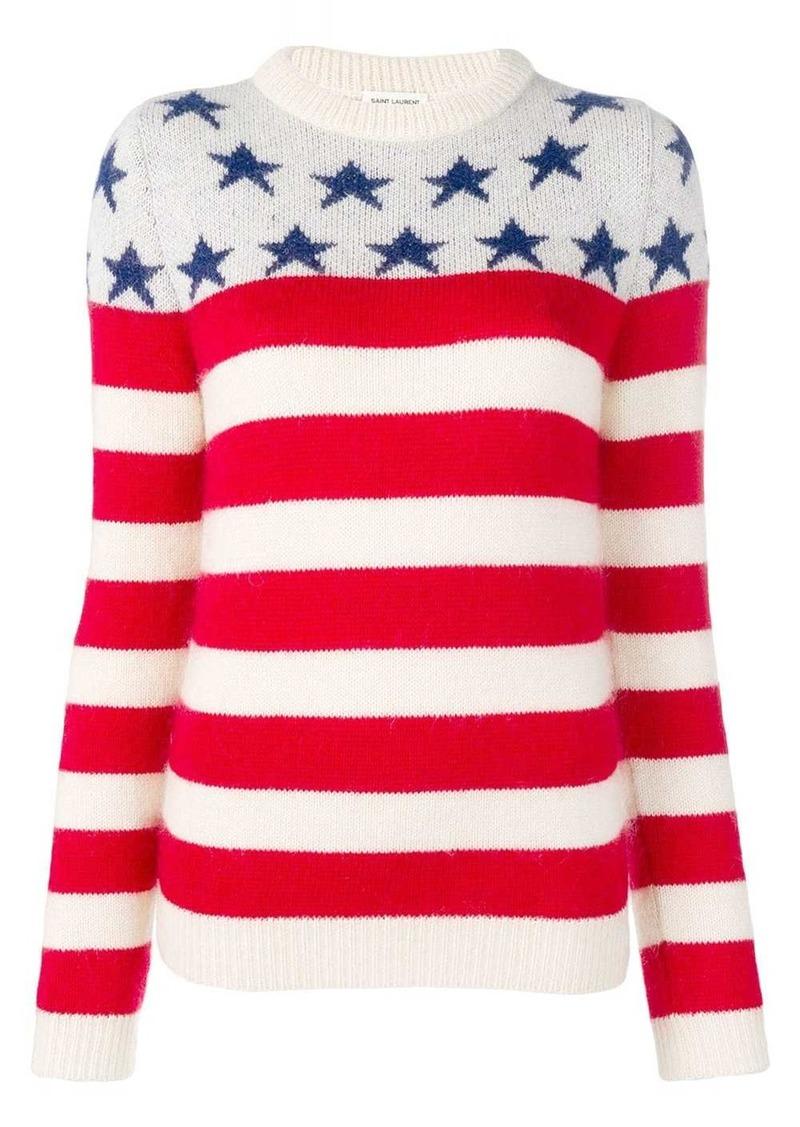 Saint Laurent stars striped jumper