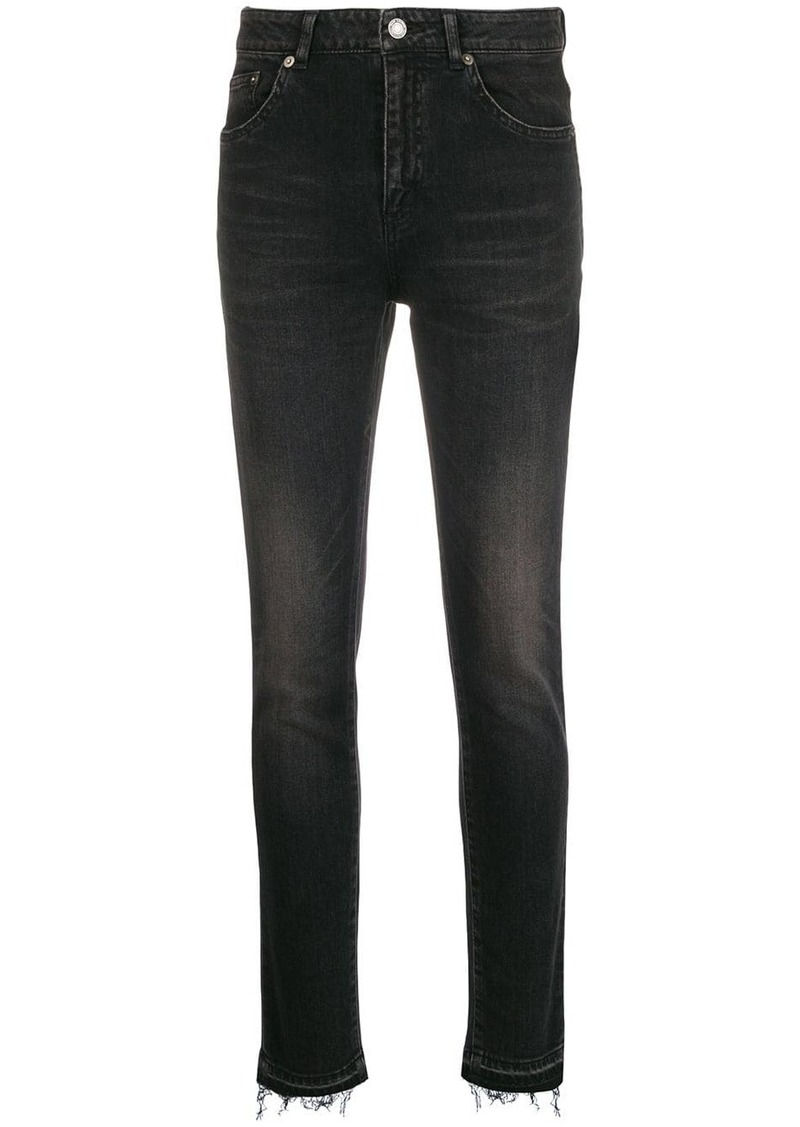 Saint Laurent stonewashed bootcut jeans