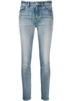 Saint Laurent stonewashed skinny jeans