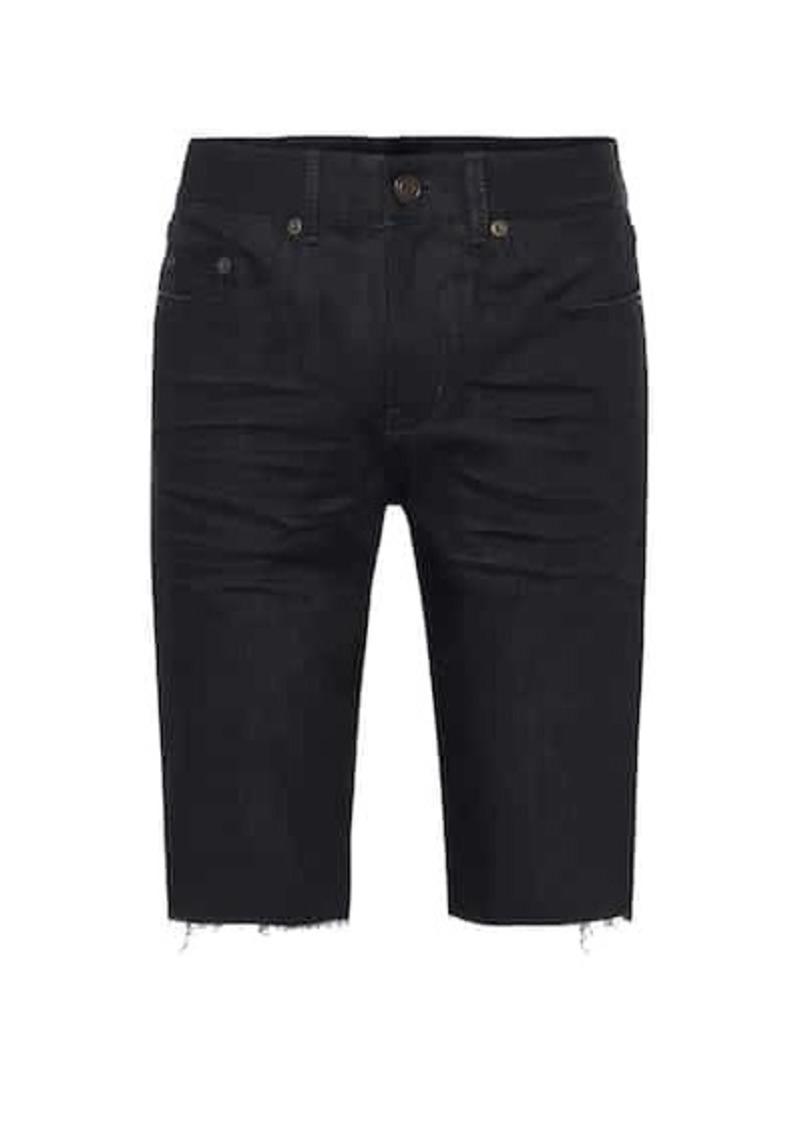 Saint Laurent Stretch-denim Bermuda shorts