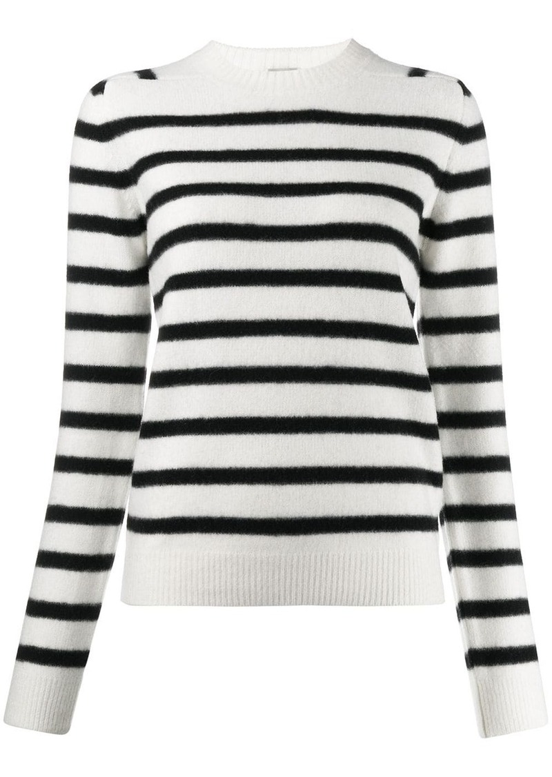 Saint Laurent stripe knitted jumper