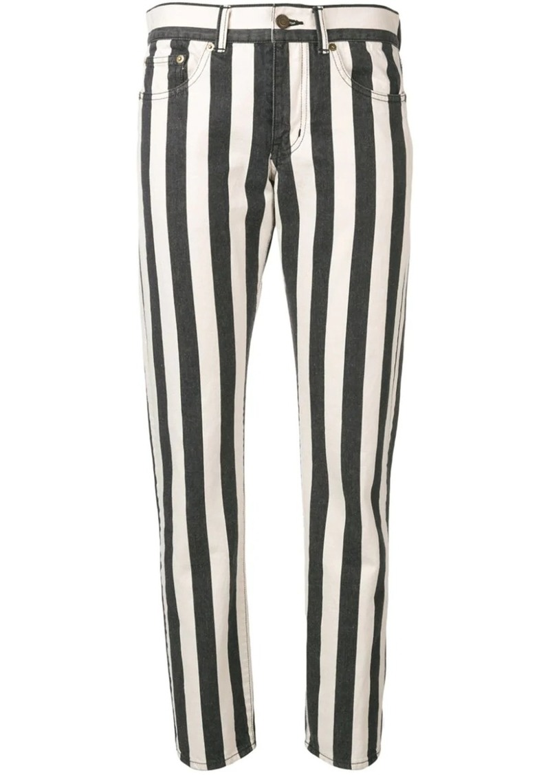 Saint Laurent striped ankle grazer jeans