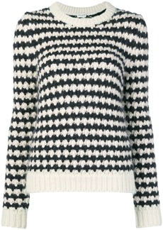 Saint Laurent striped chunky knit sweater