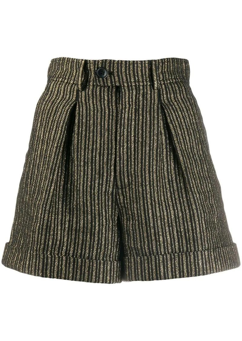 Saint Laurent striped high-waisted shorts