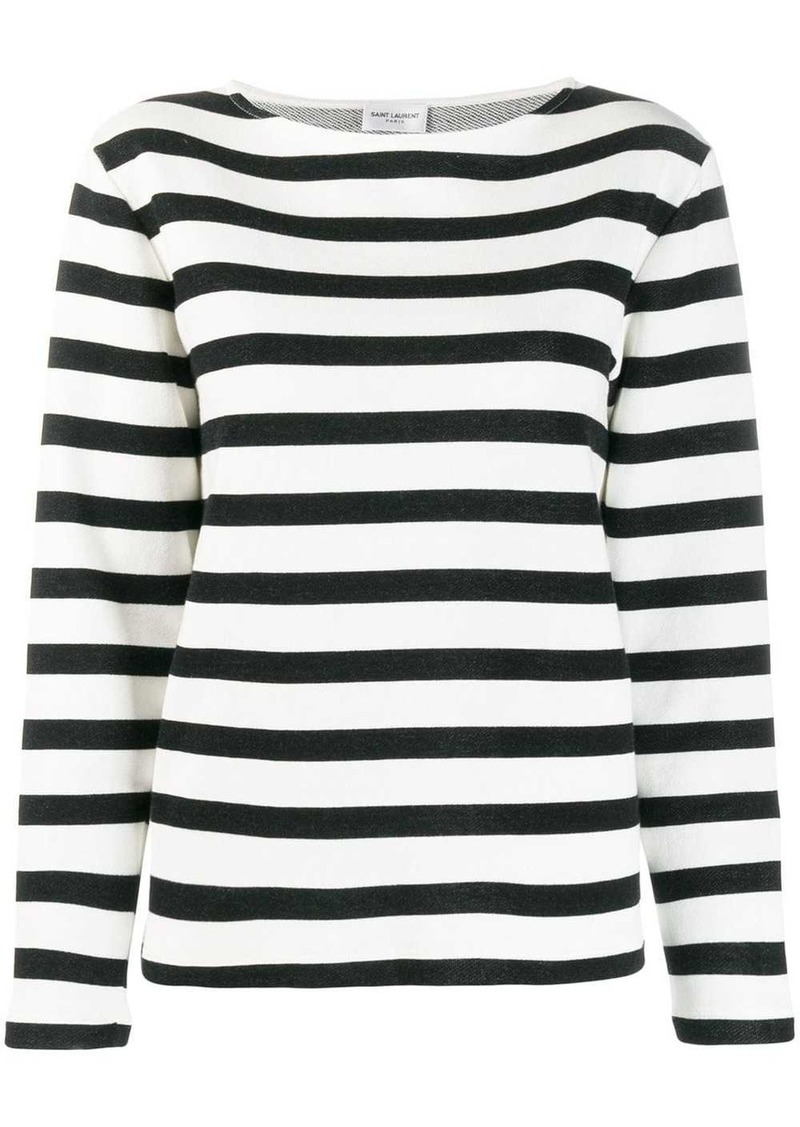 Saint Laurent striped knit jumper