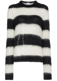 Saint Laurent striped mohair-blend sweater