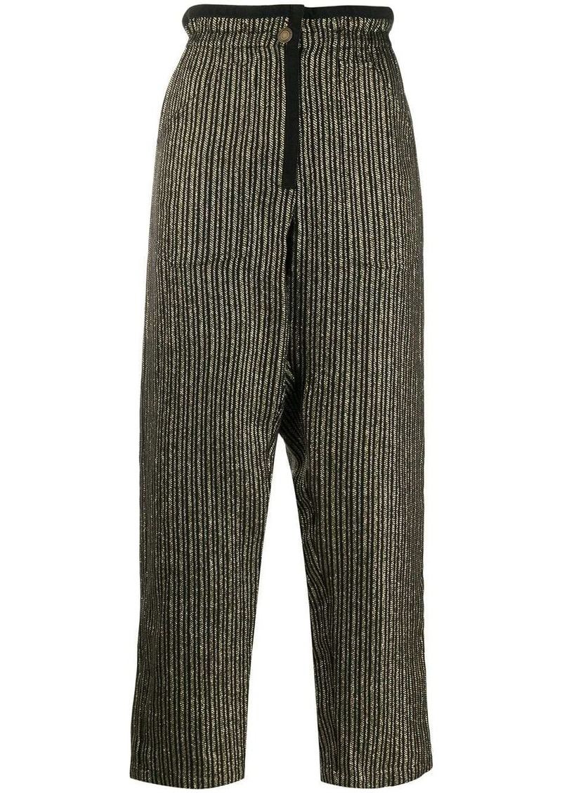 Saint Laurent striped paper bag trousers