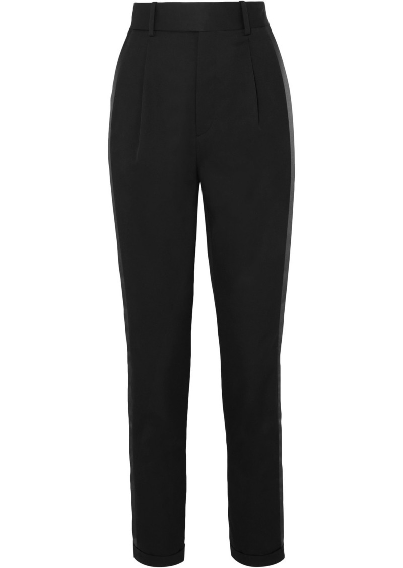 Saint Laurent Striped Wool-twill Slim-leg Pants