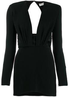 Saint Laurent structured shoulder mini dress