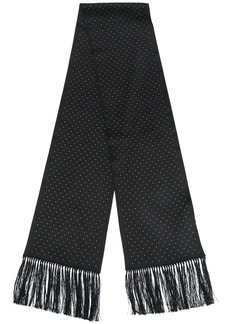 Saint Laurent studded silk scarf