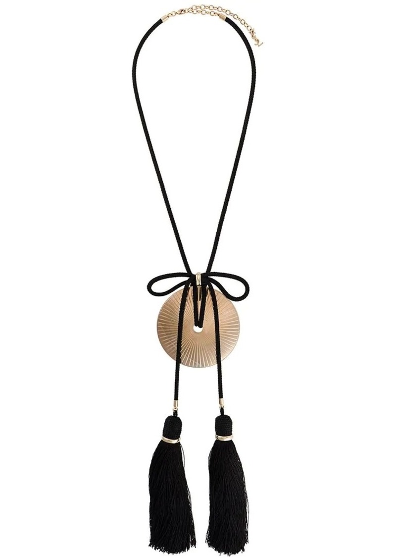 312fdebf0c tassel and disk oversized necklace