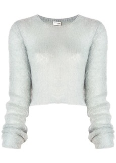 Saint Laurent textured cropped sweater