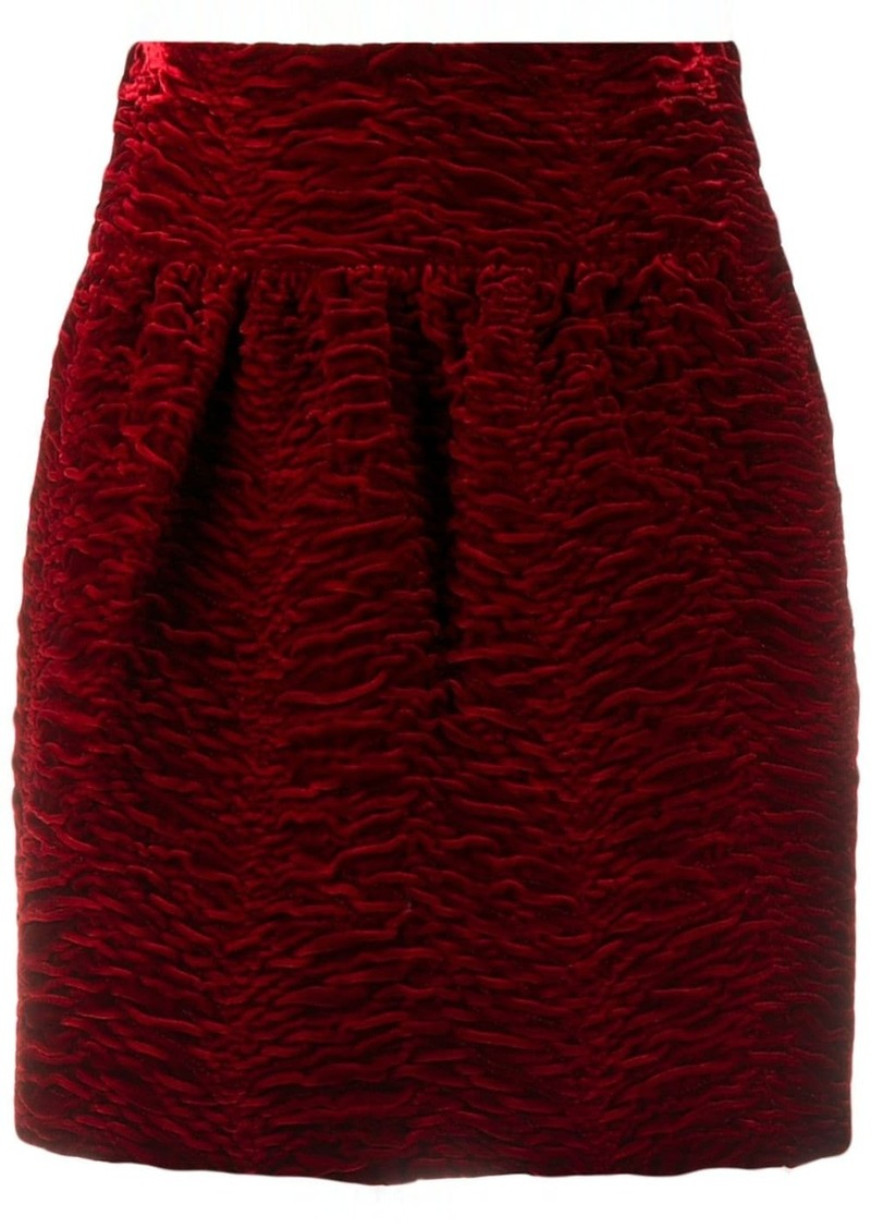 Saint Laurent textured high-waisted mini skirt