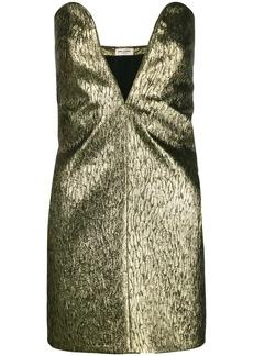Saint Laurent textured mini dress