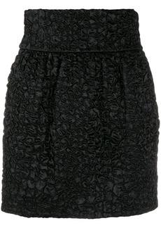 Saint Laurent ruched mini skirt