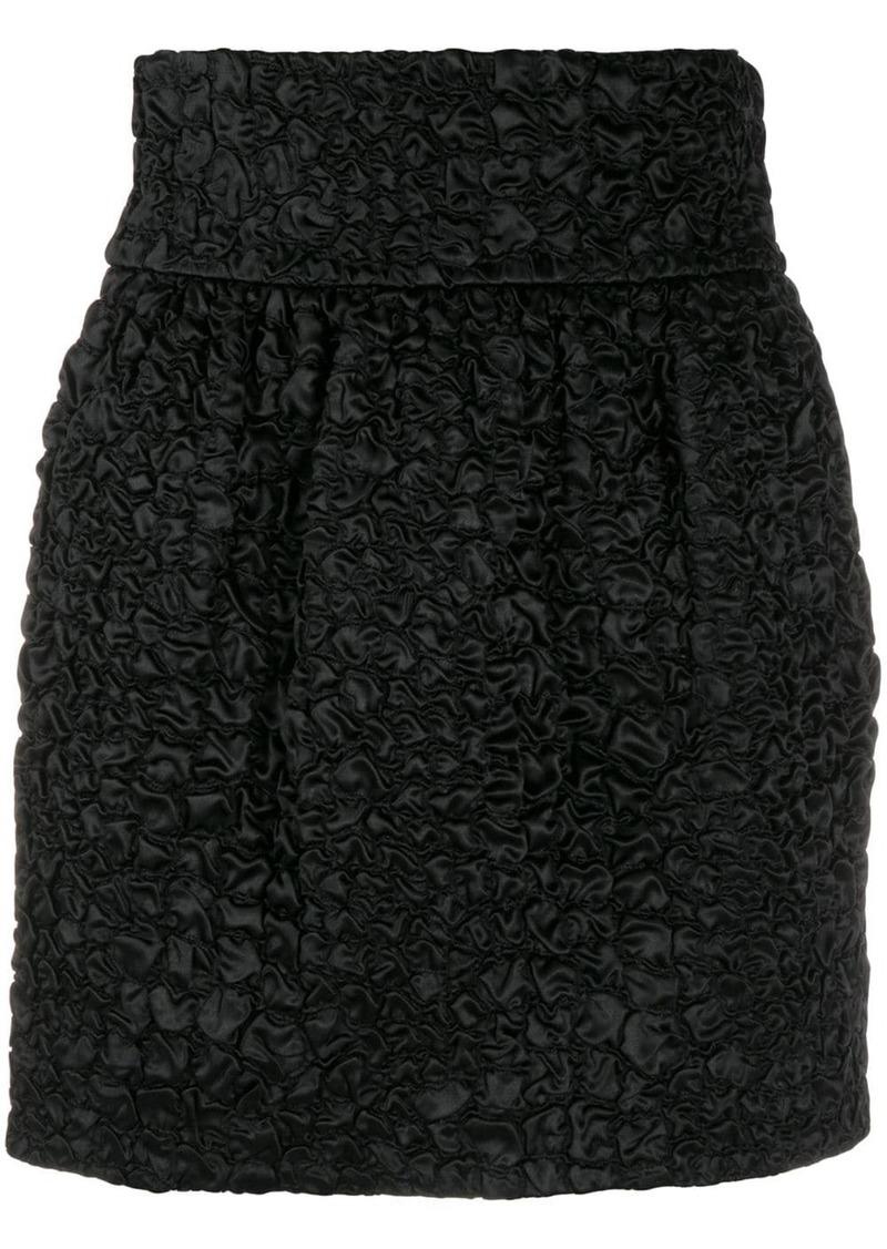Saint Laurent textured mini skirt