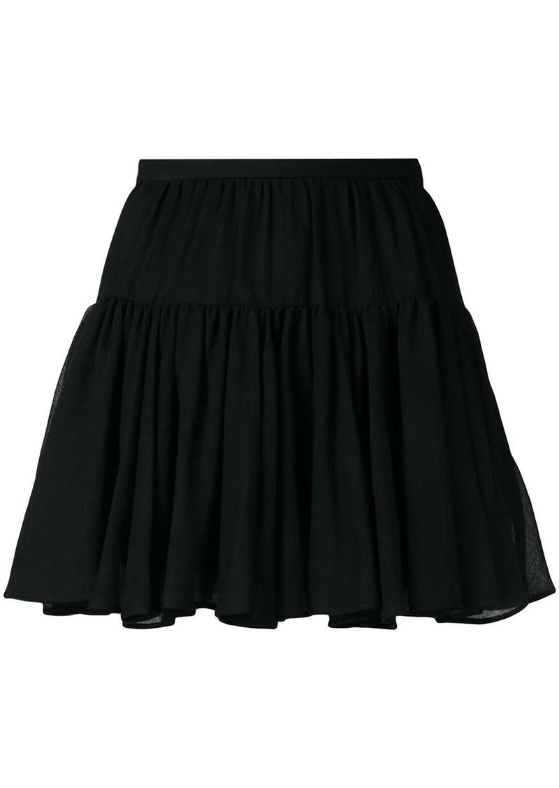 Saint Laurent tiered mini skirt