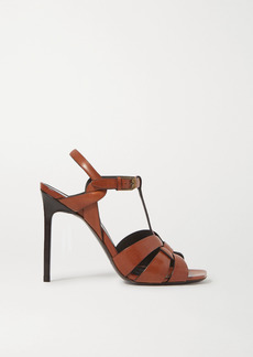 Saint Laurent Tribute Woven Leather Sandals