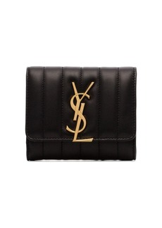 Saint Laurent triple fold quilted leather purse
