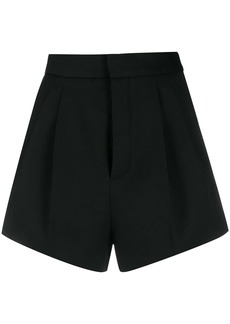 Saint Laurent pleated detail tailored style shorts
