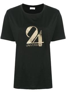 Saint Laurent Université-print T-shirt
