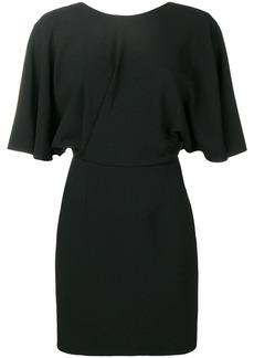 Saint Laurent v-back fitted dress