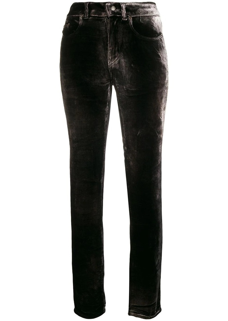 Saint Laurent velour trousers