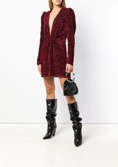 Saint Laurent velvet-flocked dress