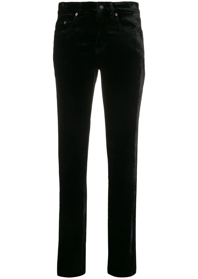 Saint Laurent velvet high rise jeans