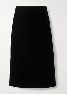 Saint Laurent Velvet Pencil Skirt