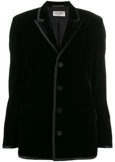 Saint Laurent velvet shoulder pads blazer