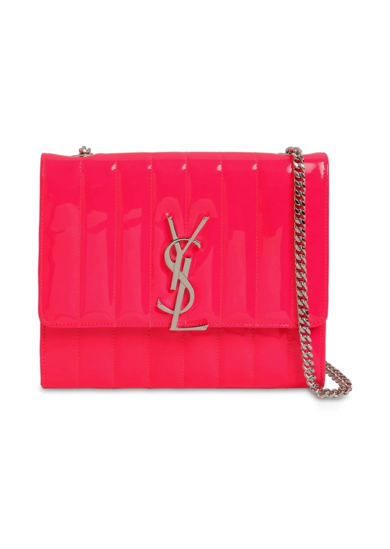 Saint Laurent Viki Quilted Leather Chain Wallet Bag