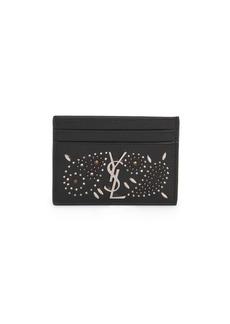 Saint Laurent Vintage Embellished Leather Card Case