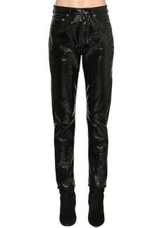 Saint Laurent Vinyl Slim Fit Pants