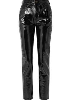 Saint Laurent Vinyl Slim-leg Pants