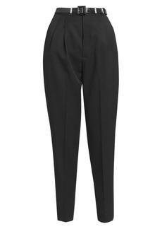 Saint Laurent Virgin Wool Pleat-Front Trousers