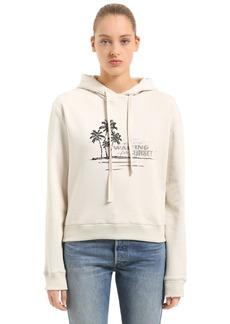 Saint Laurent Waiting For Sunset Hooded Sweatshirt