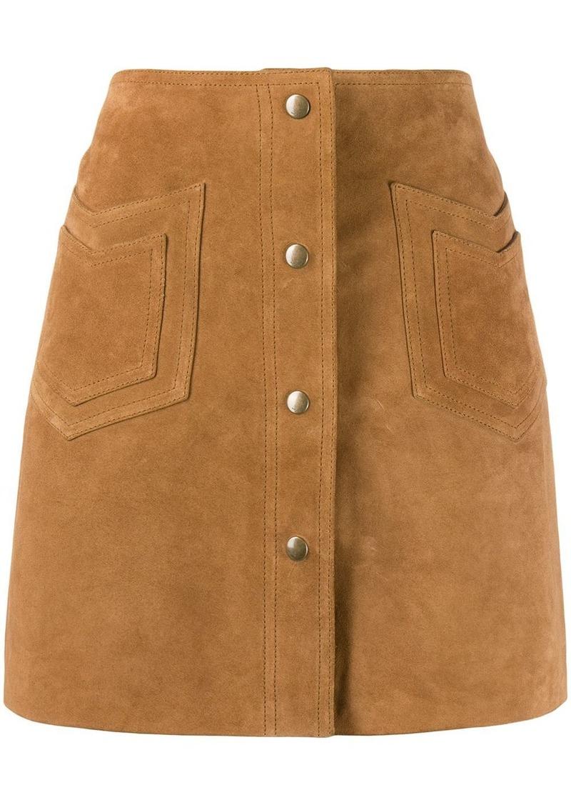 Saint Laurent western detail a-line skirt