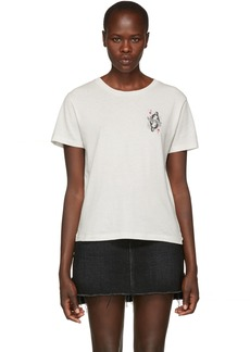 Saint Laurent White 'Beyond Love And Hell' T-Shirt