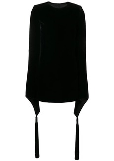 Saint Laurent wide sleeve velvet mini dress