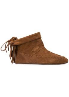 Saint Laurent winter fringed booties