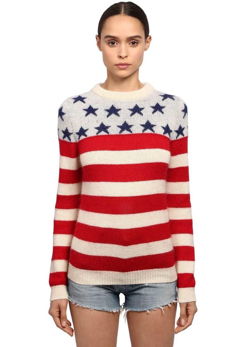Saint Laurent Wool & Mohair Usa Sweater