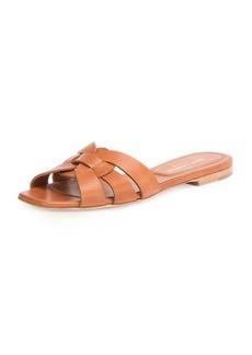 Saint Laurent Woven Leather Sandal Slide