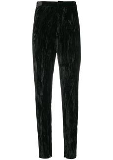 Saint Laurent wrinkled effect trousers